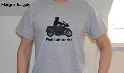 T-Shirt Weltkulturerbe Motorrad