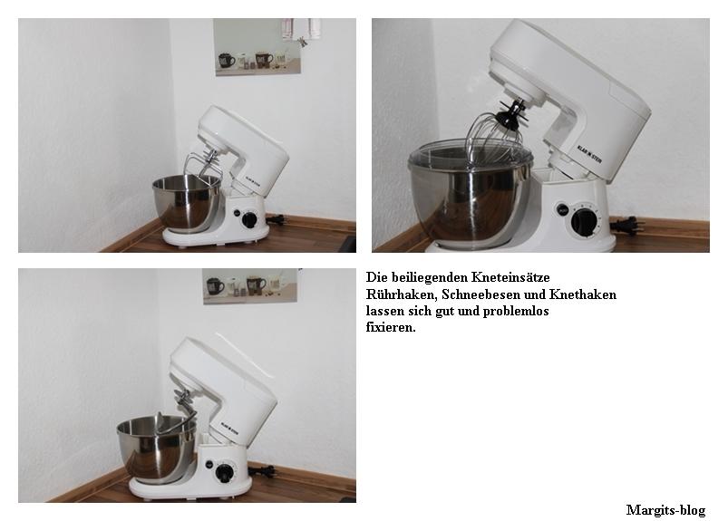 Klarstein Carina Küchenmaschine Kneteinsätze