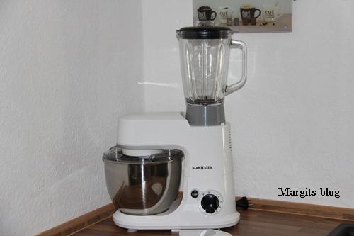 Klarstein Carina Küchenmaschine Smotothie Aufsatz Glaskaraffe. jpg