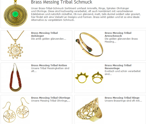 Brass Messing Tribal Schmuck