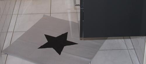 Teppich Stern von Bloomingville