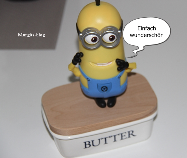 IB LAURSEN Butterschale Holzdeckel Emaille 1